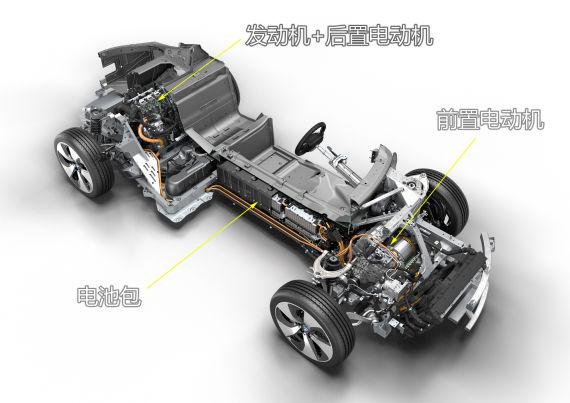 图为宝马i8动力系统