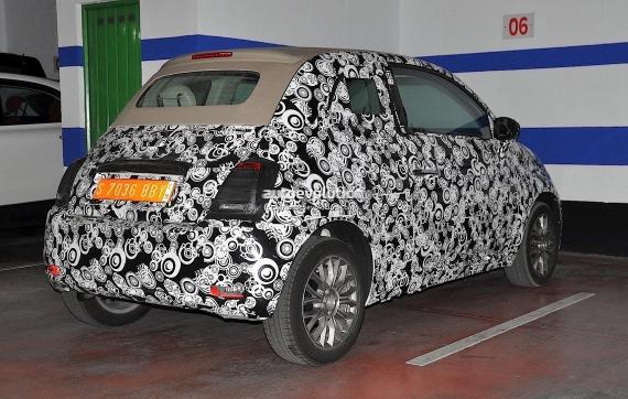 Fiat 500 Facelift Spy 06