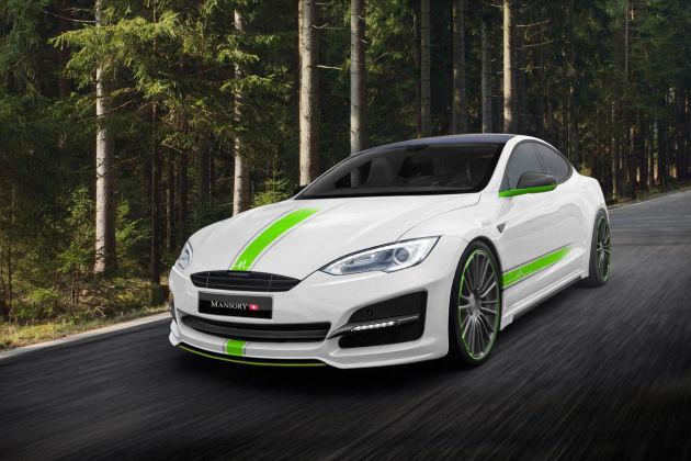一抹清新 Mansory改装特斯拉Model S
