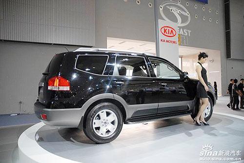 2008广州车展上起亚霸锐唱主角