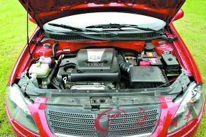 FRV(上图)1.6L发动机来自东安三菱,在华晨自己匹配下,可输出101马力、138Nm的扭矩。