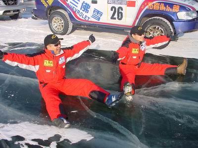 雪佛兰飞虎车队称雄2003松花江国际冰雪汽车挑战赛