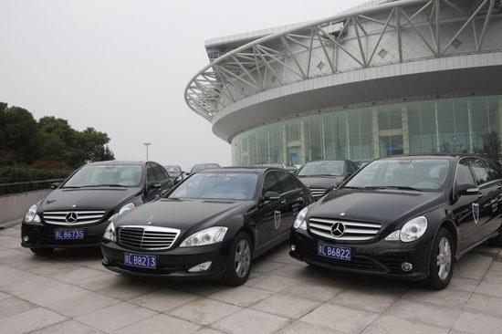 梅赛德斯-奔驰向08上海网球大师杯移交官方用车
