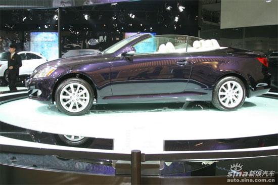 雷克萨斯硬顶跑车IS300C中国上市售价67.3万