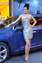 2010年北京国际车展将于4月23日至5月2日在位于北京顺义天竺工业园区的中国国际展览中心隆重举行(零部件展位于中国国际展览中心旧馆)。作为国内著名的车坛盛会之一,本次展会将有89款全球车首发,并且将有95台新能源车现场展示,成为车展新的亮点,总参展车数多达990台。 图中所示为:雪佛兰展台3号模特