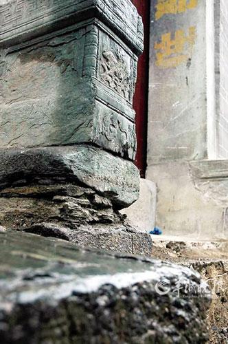 安康老街的石雕