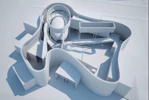 场馆设计   设计公司:sabbagh建筑师事务所   展馆外观:从上仿俯视