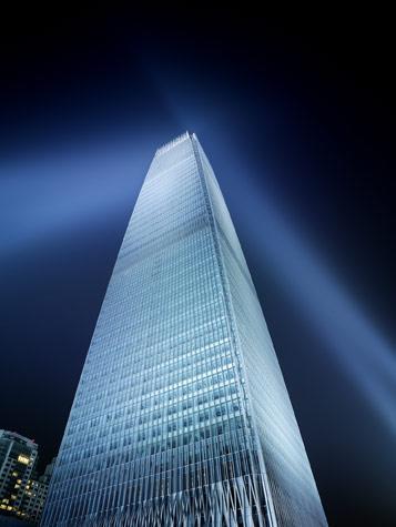 国贸大酒店楼体夜景