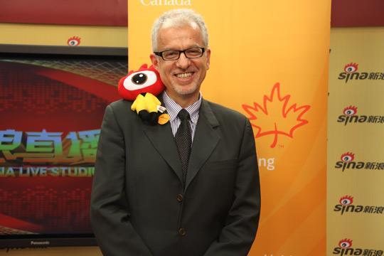 加拿大驻华使馆移民处公使衔参赞傅颂义(Mr. Sidney Frank)先生