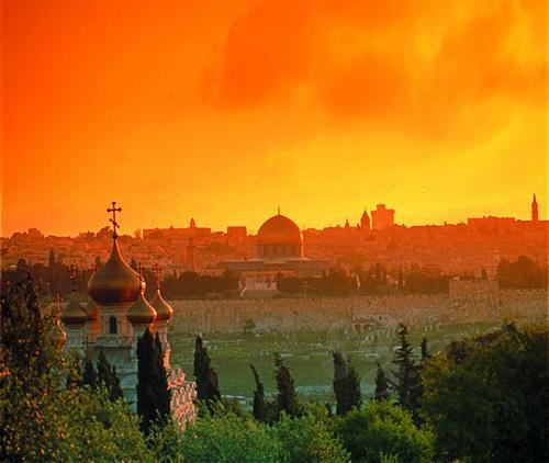 黄昏下的耶路撒冷