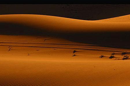 巴丹吉林沙漠的沙山相对高度可达500多米