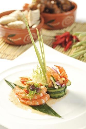 「香茅虾沙律」- 惹味中带清新口感,香口而绝不油腻