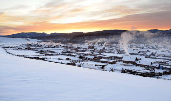 呼伦贝尔冬景