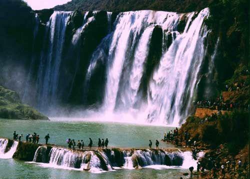 壁纸 风景 旅游 瀑布 山水 桌面 500_357
