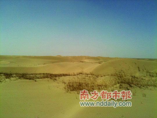 达瓦昆沙漠里绵延的沙。