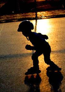 溜冰的孩子