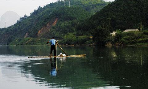 归春河上的渔人