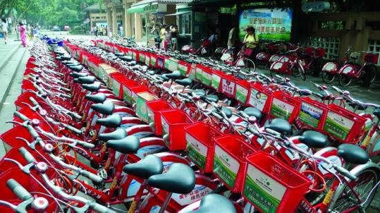 杭州城市红色手绘
