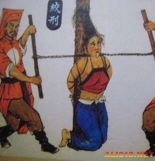 古代日本惩罚女犯变态酷刑-惩罚女犯的十二大酷刑 绞刑图片