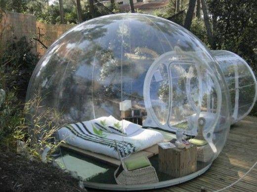 入住法国全透明 泡泡旅店