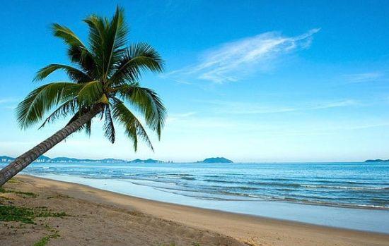 三亚的温暖海滩