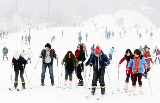 神农架天燕风景区滑雪场