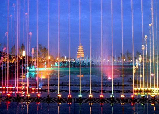 大雁塔广场音乐喷泉-明星当导游 跟随陕籍明星畅游陕西