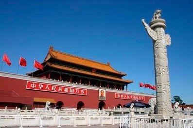 中国天安门广场简笔画
