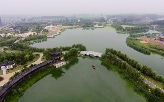 航拍泗县清水湾公园 李博 陈立希 摄