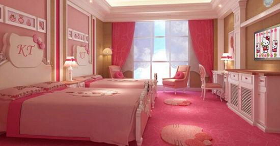 酒店里有全粉红的主题房间