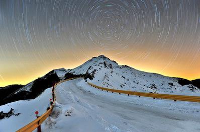 合欢山冬季景观