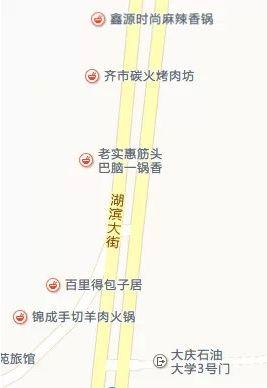 美食街地图