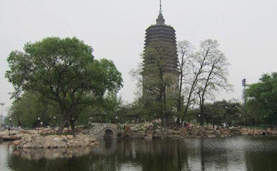 东北第一高塔,白塔,就坐落在辽阳的白塔公园内。白塔是一座佛舍利塔,因塔身涂有白垩,俗称白塔。白塔建于辽代,是全国76座古塔之一,为东北第一高塔,名列我国六大高塔之一。虽经历代补修,仍保持原有风貌,为现存辽金时期砖塔中的精品之一。白塔公园遗址位于中华大街一段,巍峨屹立的白塔,看到它有一种品读历史的感觉,仿佛回到了那个时代,一种沧桑感油然而生。   3.