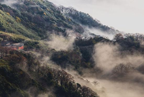 烟雾环绕的猫儿山 图:新浪博主/老桨