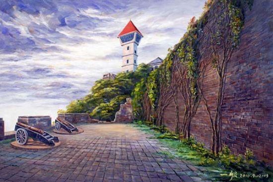 台南安平古堡油画(胡道昌作品)
