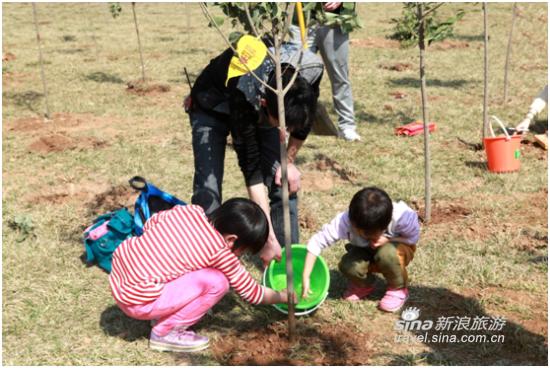 """举办""""亲植一棵树・广发菩提心""""2016年植树祈福活动"""
