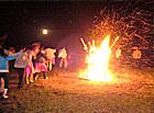 白洋淀举行篝火晚会