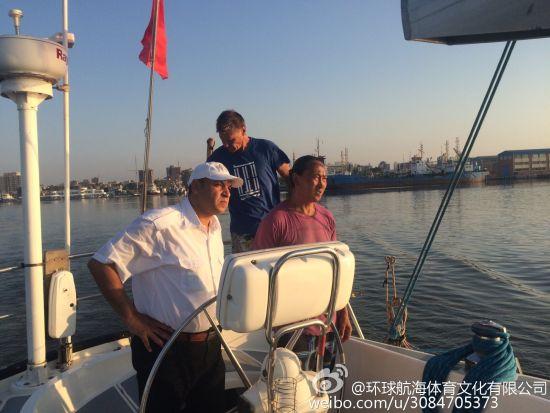 """航海家翟墨率""""2015重走海上丝绸之路""""船队抵达埃及苏伊士运河"""