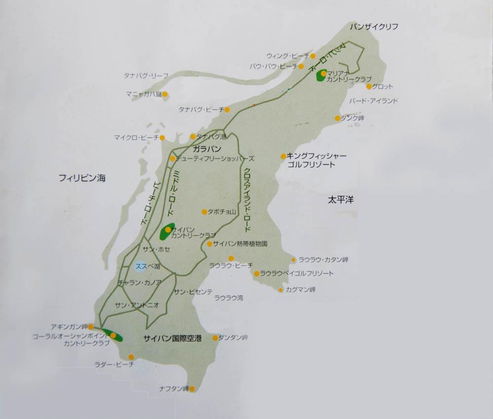 塞班岛在地图的位置