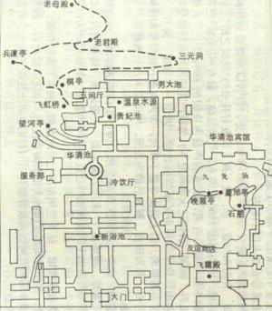 华清池旅游地图