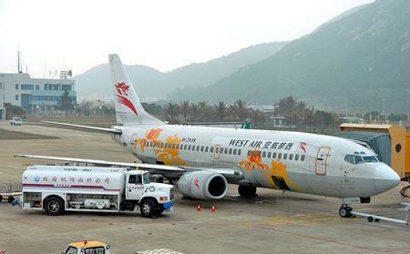 图文:中国西部航空公司波音737-300型客机(8)