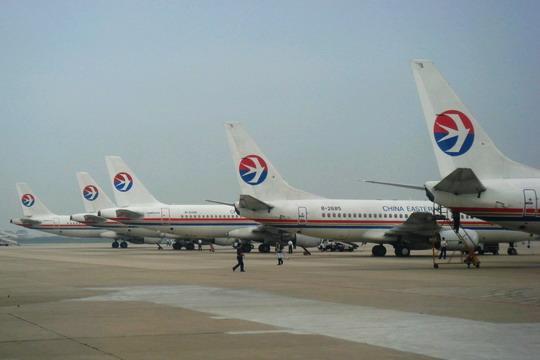 上海虹桥国际机场上的中国东方航空公司机队