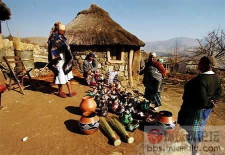 靠巫医治病,是莱索托人的传统。