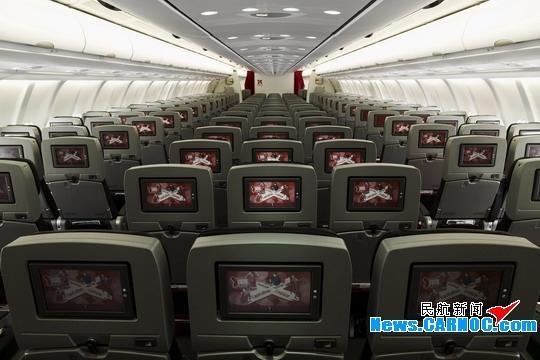 亚洲航空公司(AirAsia Berhad)空中客车A330-300客机客舱