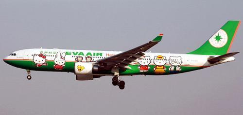 长荣航空公司的Hello Kitty彩绘飞机