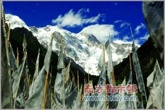 有中国最美丽的雪山之称的南迦巴瓦峰
