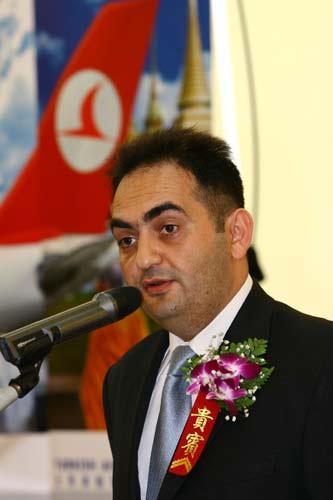 土耳其航空公司北京地区总经理Melih Topuz先生致辞