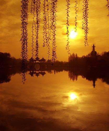 瘦西湖日落