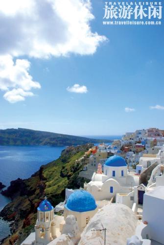 蓝白色调 希腊式生活