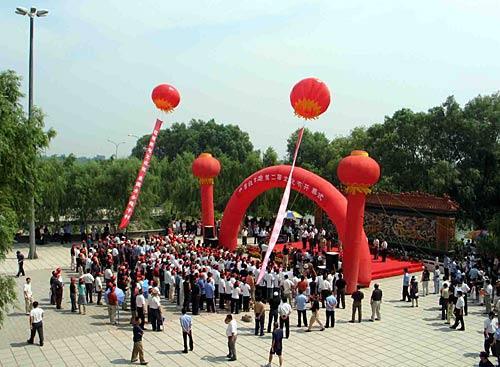 白洋淀文化苑每年都举办盛大的荷花节